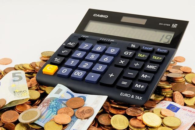 kalkulator i pieniądze